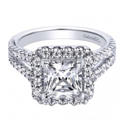Gabriel 14 Karat Contemporary Engagement Ring ER9785W44JJ