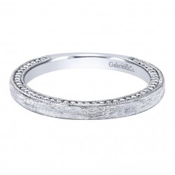 Gabriel 14 Karat Contemporary Wedding Band WB10914W4JJJ