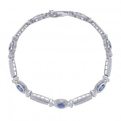 Gabriel Fashion 14 Karat Hampton Color Tennis Bracelet TB2337W45SB
