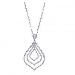 Gabriel Fashion 14 Karat Hampton Diamond Necklace NK2470W44JJ