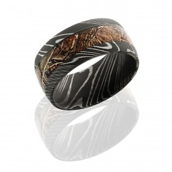 Lashbrook D10D15/KINGSWOODLAND ACID Damascus Steel Wedding Ring or Band