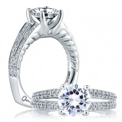 A.JAFFE Platinum Signature Engagement Ring MES452