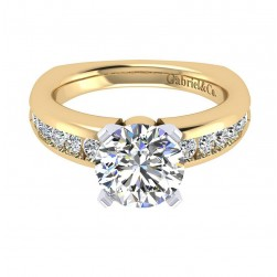 Gabriel 14 Karat Contemporary Engagement Ring ER4182M44JJ