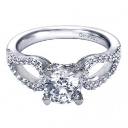 Gabriel 14 Karat Contemporary Engagement Ring ER5912W44JJ