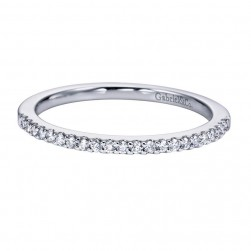 Gabriel 14 Karat Contemporary Wedding Band WB6555W44JJ