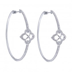 Gabriel Fashion 14 Karat Hoops Hoop Earrings EG12297W45JJ