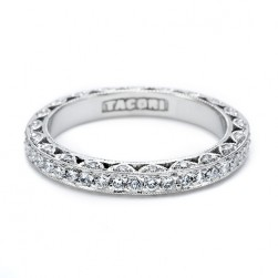 Tacori 18 Karat Crescent Silhouette Wedding Band HT2259B