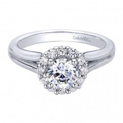 Gabriel 14 Karat Contemporary Engagement Ring ER9391W44JJ