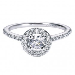 Gabriel 14 Karat Contemporary Engagement Ring ER95409W44JJ