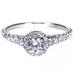 Gabriel 14 Karat Contemporary Engagement Ring ER98863W44JJ