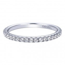 Gabriel 14 Karat Contemporary Wedding Band WB7464W44JJ
