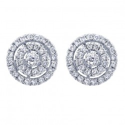 Gabriel Fashion 14 Karat Clustered Diamonds Stud Earrings EG11287W45JJ