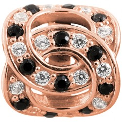 JLo Collection Endless Jewelry Double Love Rose Gold Charm 2675