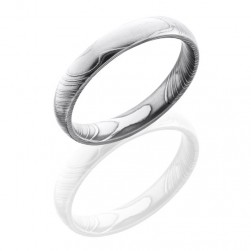 Lashbrook D4D Polish Damascus Steel Wedding Ring or Band
