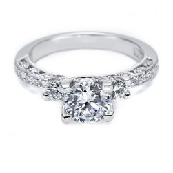 Tacori Platinum Crescent Silhouette Engagement Ring HT225912