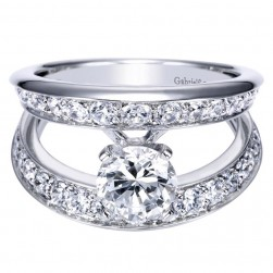 Gabriel 14 Karat Contemporary Engagement Ring ER5316W44JJ