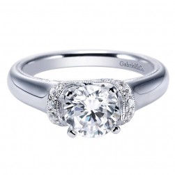 Gabriel 14 Karat Contemporary Engagement Ring ER9239W44JJ