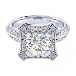 Gabriel 14 Karat Perfect Match Engagement Ring ER002C8AEW44JJ