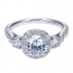 Gabriel 14 Karat Contemporary Engagement Ring ER7508W44JJ