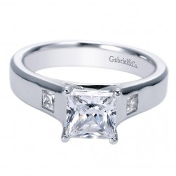 Gabriel 14 Karat Contemporary Engagement Ring ER7895W44JJ