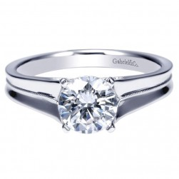 Gabriel 14 Karat Contemporary Engagement Ring ER9091W4JJJ