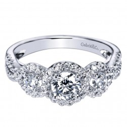 Gabriel 14 Karat Contemporary Engagement Ring ER95338W44JJ
