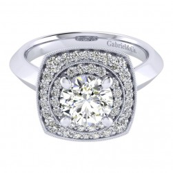 Gabriel 14 Karat Perfect Match Engagement Ring ER001C6AFW44JJ