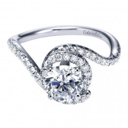 Gabriel 14 Karat Contemporary Engagement Ring ER7221W44JJ