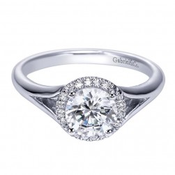 Gabriel 14 Karat Contemporary Engagement Ring ER7808W44JJ