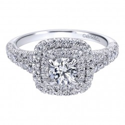 Gabriel 14 Karat Contemporary Engagement Ring ER910092W44JJ