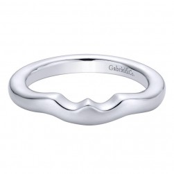 Gabriel 14 Karat Contemporary Wedding Band WB9436W4JJJ