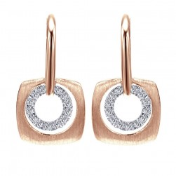 Gabriel Fashion 14 Karat Organic Leverback Earrings EG12469K45JJ