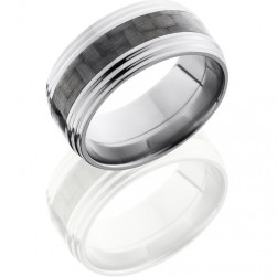 Lashbrook C10FGG13-CF Polish Titanium Carbon Fiber Wedding Ring or Band