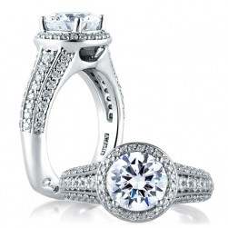 A.JAFFE Platinum Signature Engagement Ring MES567