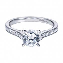 Gabriel 14 Karat Contemporary Engagement Ring ER7444W44JJ