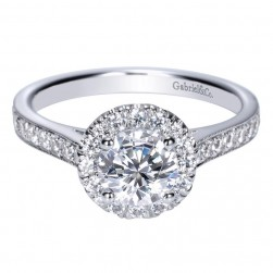 Gabriel 14 Karat Contemporary Engagement Ring ER8932W44JJ