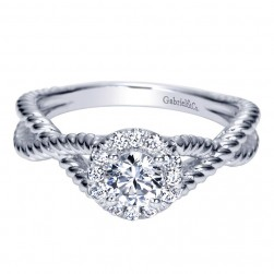Gabriel 14 Karat Contemporary Engagement Ring ER98651W44JJ