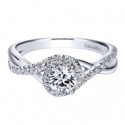 Gabriel 14 Karat Contemporary Engagement Ring ER98733W44JJ