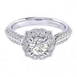 Gabriel 14 Karat Perfect Match Engagement Ring ER002B3ACW44JJ