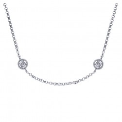 Gabriel Fashion 14 Karat Roaring 20's Diamond By The Yard Necklace NK824-18W45JJ