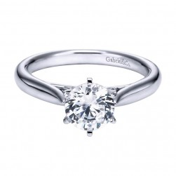 Gabriel 14 Karat Contemporary Engagement Ring ER6668W44JJ