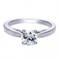 Gabriel 14 Karat Contemporary Engagement Ring ER8027W44JJ
