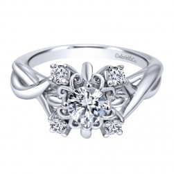 Gabriel 14 Karat Contemporary Engagement Ring ER910088W44JJ