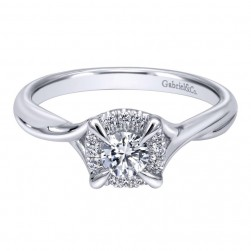 Gabriel 14 Karat Contemporary Engagement Ring ER910770W44JJ