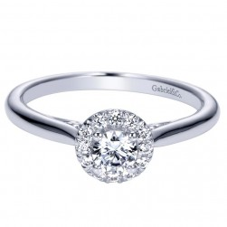 Gabriel 14 Karat Contemporary Engagement Ring ER98561W44JJ