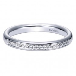 Gabriel 14 Karat Contemporary Wedding Band WB4257W44JJ