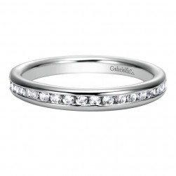 Gabriel 14 Karat Contemporary Wedding Band WB8194W44JJ