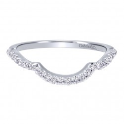 Gabriel 14 Karat Contemporary Wedding Band WB911779R0W44JJ