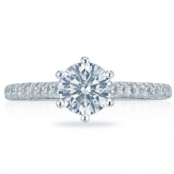HT2546RD65 Platinum Tacori Classic Crescent Engagement Ring