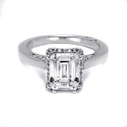 Tacori Platinum Dantela Engagement Ring 2620ECSM